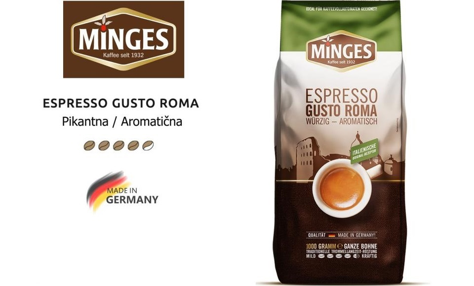 MINGES ESPRESSO KAFA GUSTO ROMA 1KG