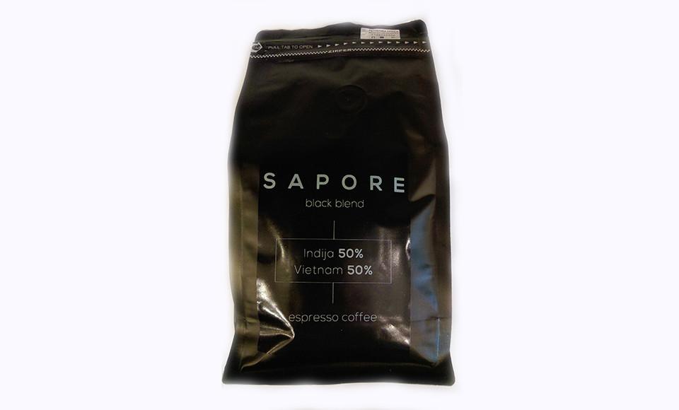 SAPORE BLACK BREND ESPRESSO KAFA 500 GRAMA