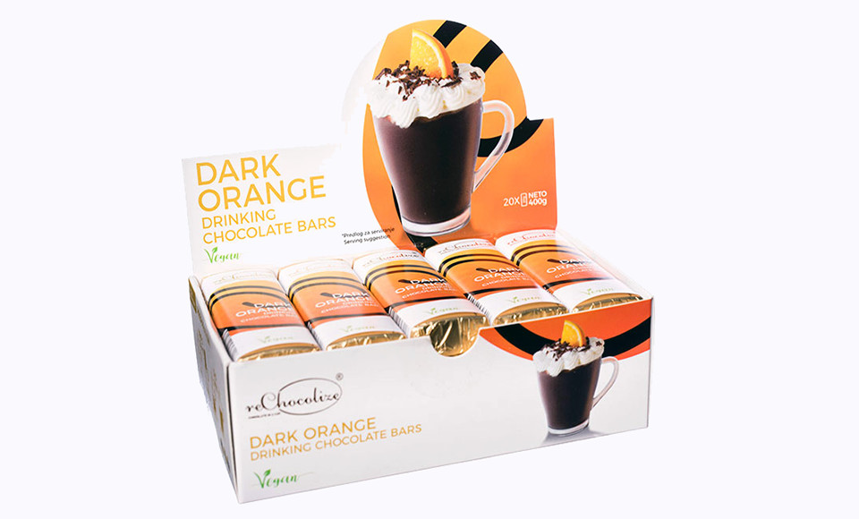 RECHOCOLIZE DARK ORANGE TOPLA ČOKOLADA 20 KOMADA