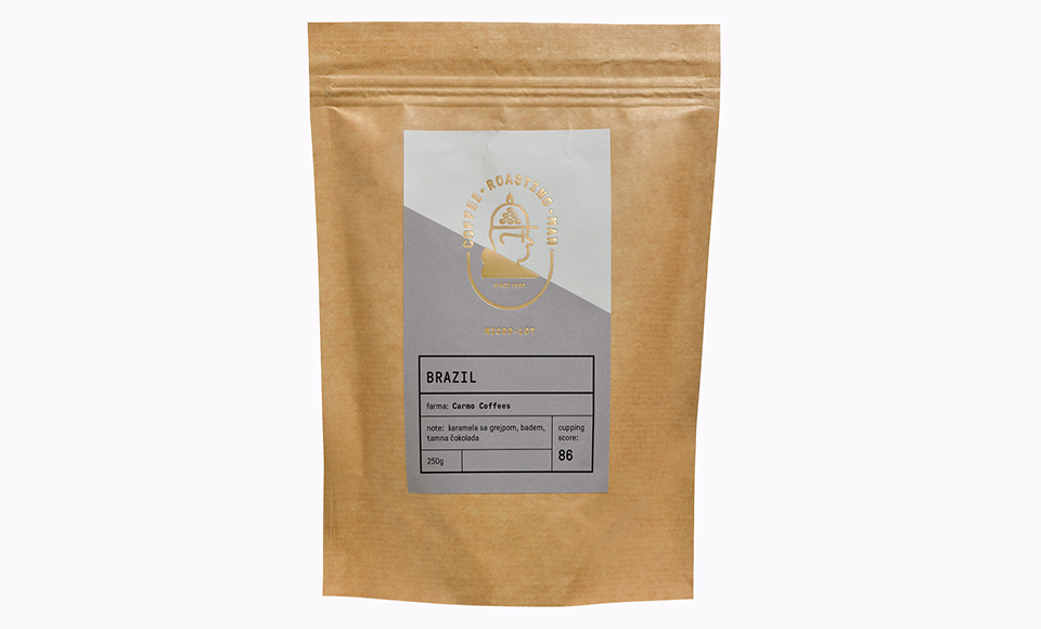 BRAZIL CARMO COFFEE  250 GRAMA ESPRSSO PRŽENJE