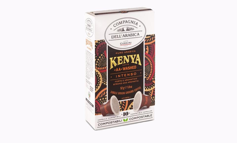 CAFFE CORSINI KENYA AA WASHED KAPSULE 10 KOM