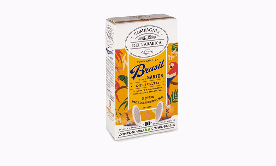 CAFFE CORSINI BRASILE SANTOS KAPSULE 10 KOM
