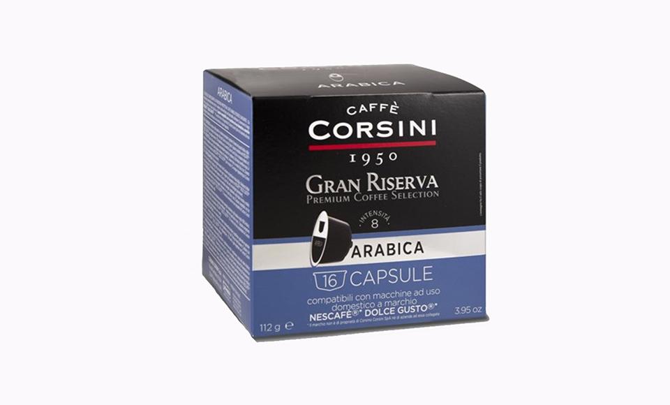 CAFFE CORSINI GRAN RISERVA ARABICA KAPSULE 16 KOM